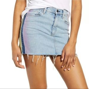 Hudson Viper Degrade Prism Denim Skirt Sz 26